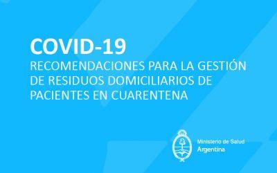 Gestión de Residuos Domiciliarios de Pacientes en Cuarentena