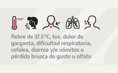 """Incorporan nuevos síntomas a la definición de """"caso sospechoso"""" de COVID-19"""