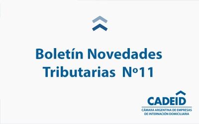 Boletín Novedades Tributarias Nº 11