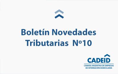 Boletín Novedades Tributarias Nº 10